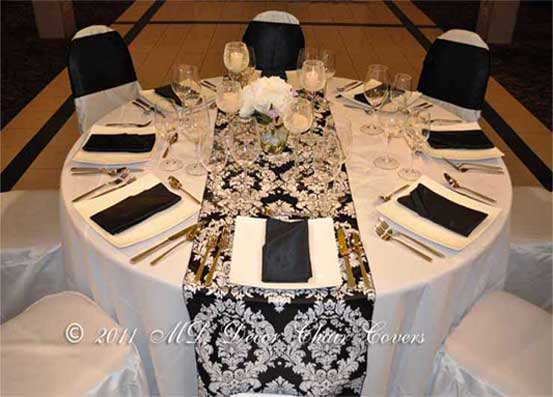 Black And White Damask Take Me Away One Stop Party Decor