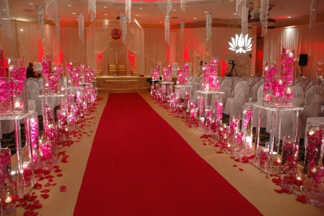 Columns and crystal centerpices one stop party decor for 25th wedding anniversary stage decoration