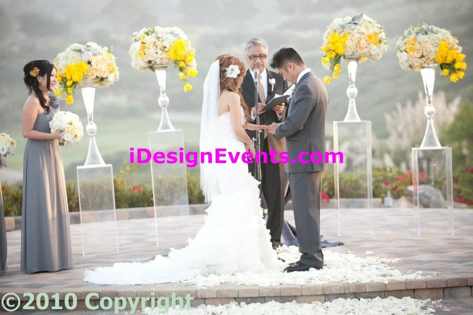 Ceremony Rentals Crystal Column