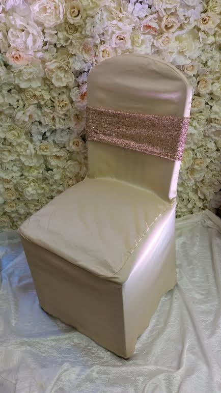 gold rose gold glitz chair band