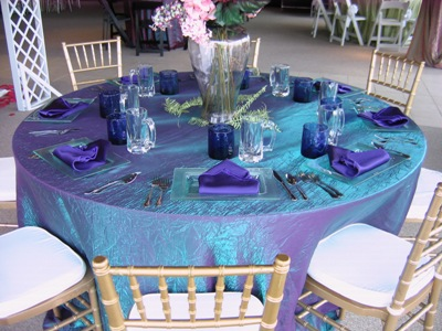& TEAL AQUA Iridescent crush linens 120